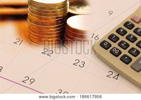 concept of payment on due date with calendar