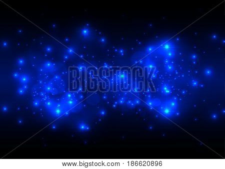 Abstract Blue Light background. illustration vector design