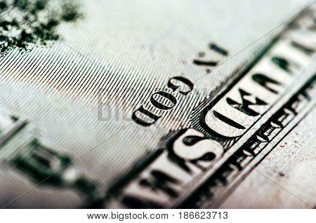 Hundred Dollar Bill - Macro Nb. 17