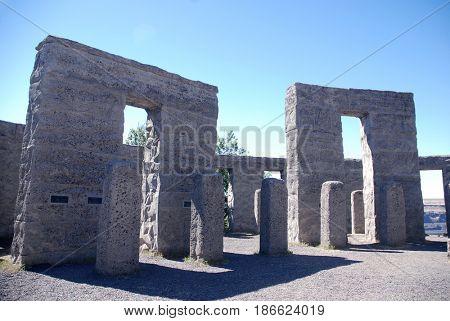 Pillars at Maryhill Stonehenge in Maryhill, Washington