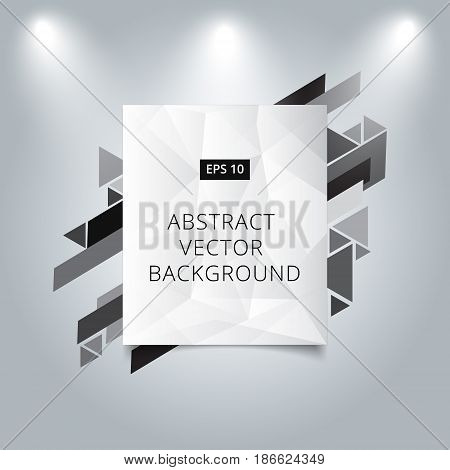 Abstract background low polygon vector background with graphic geometric triangle triangle template with spotlight shine for print ad magazine brochure leaflet