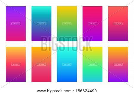 soft color background screen vector mobile phone app apple bright modern gradient gradient background design ui ux wireframe kit set collection page website website design template 2017 application interface smartphone adaptive web software theme wallpape