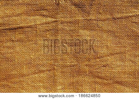 Orange Hessian Sack Cloth Texture.