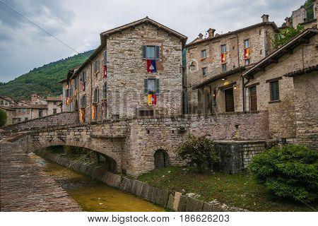 The historic center of Gubbio during the Festa dei Ceri