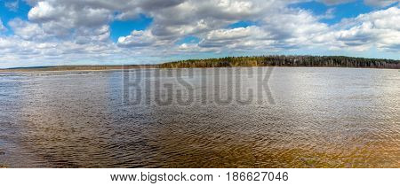 Russia. Leningrad region. The village of Loseva. The Vuoksa River
