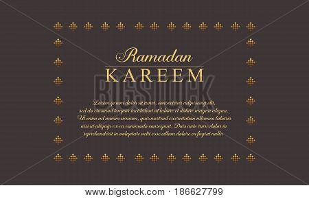 Collection stock of Ramadan Kareem greeting card vector art