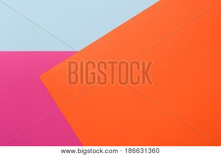 Backdrop minimalistic design, geometric textured abstract color background. Flat lay composition, top view, copy space, nobody,