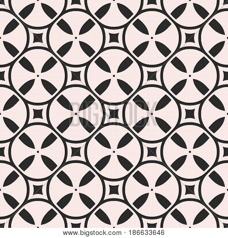 Vector seamless pattern, simple monochrome geometric texture with tapes, bobbins, spools. Abstract repeat background, square tiles, endless backdrop. Design element for decor, covers, prints, fabric