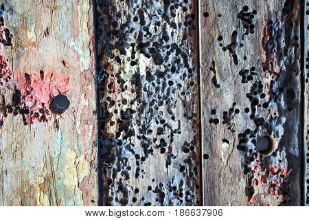 Aged painted wooden texture background