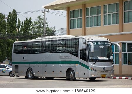 Sunlong Bus Of Greenbus Company. Route Between Chiangmai And Chiangsaen