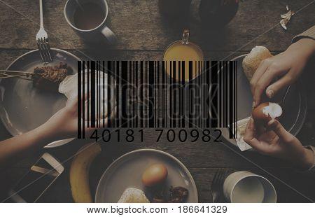 Barcode Line Number Code Banner Vector