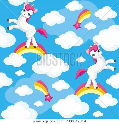 Cute Unicorn Seamless Pattern.eps