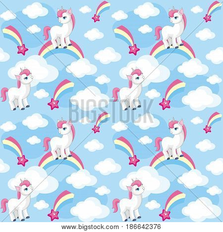 Little Unicorn Seamless Pattern.eps