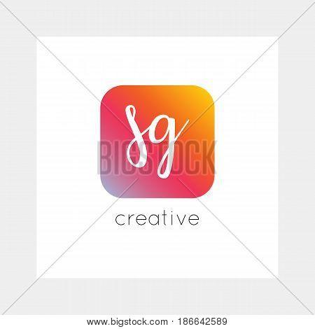 Sg Logo, Vector. Useful As Branding, App Icon, Alphabet Combination, Clip-art.