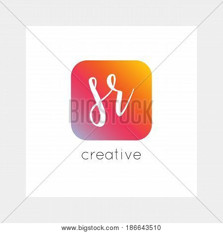 Sr Logo, Vector. Useful As Branding, App Icon, Alphabet Combination, Clip-art.