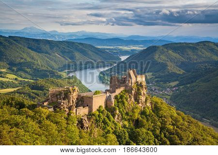 Aggstein Castle Ruin In Wachau Valley, Austria