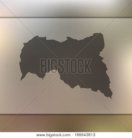 Central African Republic map on blurred background. Silhouette of vector Central African Republic map.