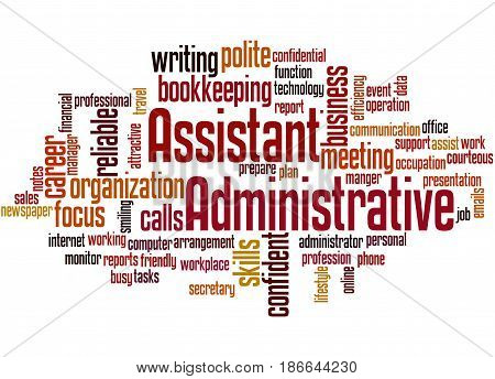Administrative Assistant, Word Cloud Concept