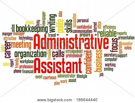 Administrative Assistant, Word Cloud Concept 3
