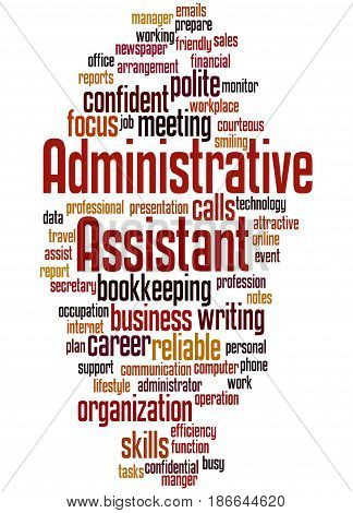 Administrative Assistant, Word Cloud Concept 5