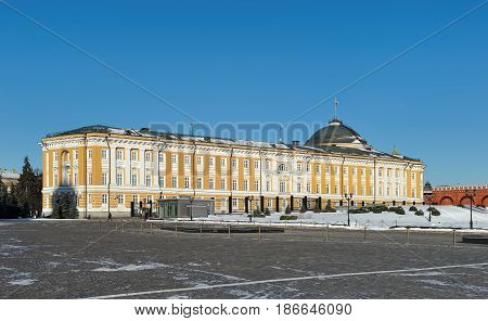 Moscow Kremlin View of the building of the Senate built 1776 - 1787 years by the architect M.F. Kazakova