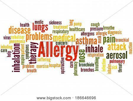 Allergy Word Cloud Concept 4