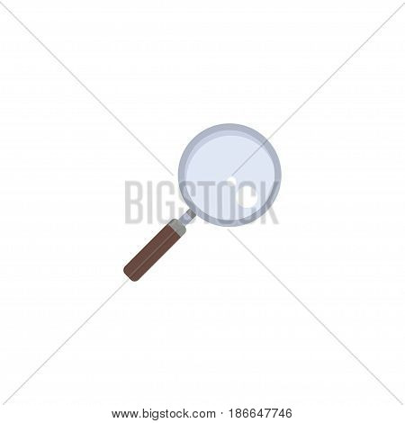 Flat Loupe Element. Vector Illustration Of Flat Magnifier Isolated On Clean Background. Can Be Used As Loupe, Search And Zoom Symbols.