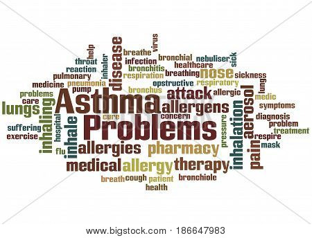 Asthma Problems, Word Cloud Concept 4
