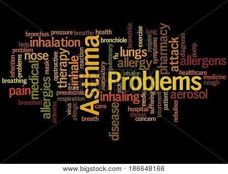 Asthma Problems, Word Cloud Concept 6