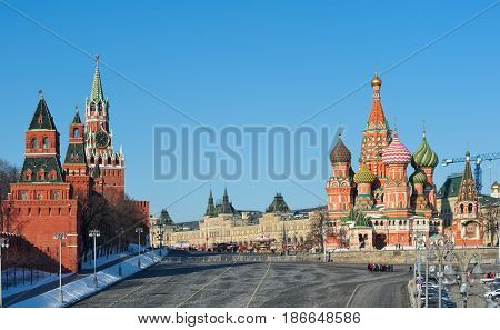 View of St. Basil's Cathedral Moscow Kremlin and Red Square