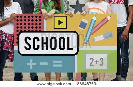 School Education Study Knowledge Training Concept