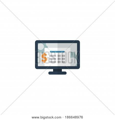 Flat Software Element. Vector Illustration Of Flat Accounting System  Isolated On Clean Background. Can Be Used As Accounting, System And Software Symbols.
