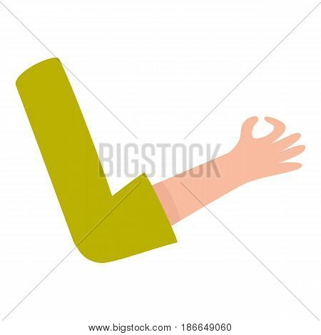 Female, woman arm, hand showing okay, OK sign, approval, confirmation, cartoon vector illustration isolated on white background. Cartoon female hand showing okay, OK gesture, nonverbal communication