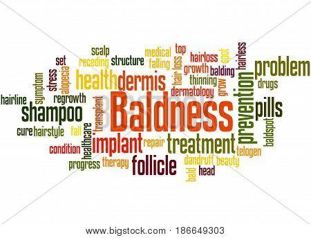 Baldness, Word Cloud Concept 4