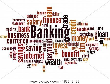 Banking, Word Cloud Concept