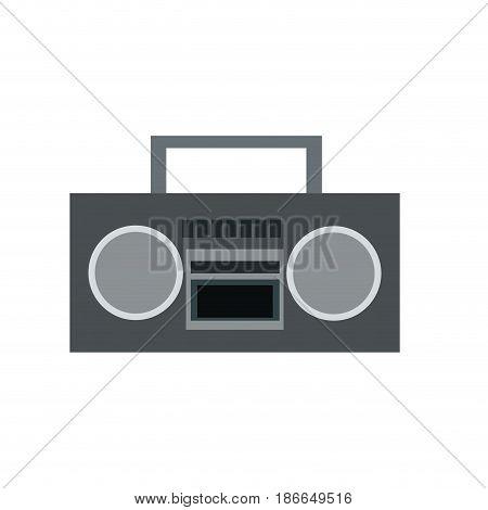 stereo radio music play retro vector illustration
