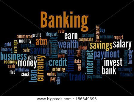 Banking, Word Cloud Concept 3