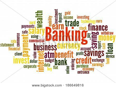 Banking, Word Cloud Concept 4