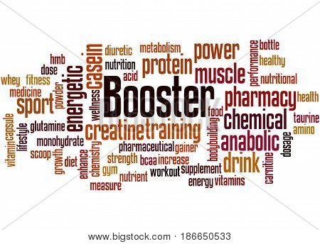 Booster, Word Cloud Concept