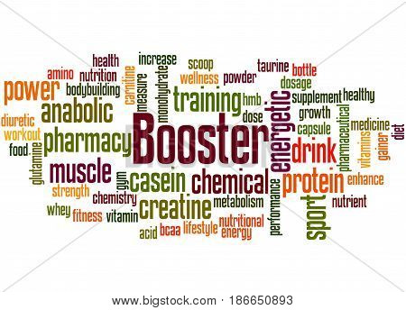 Booster, Word Cloud Concept 3