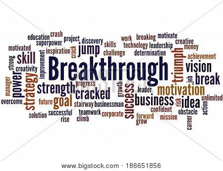 Breakthrough, Word Cloud Concept 6