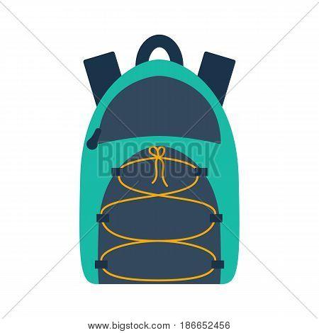 Vector Cartoon Flat Sport Or School Backpack