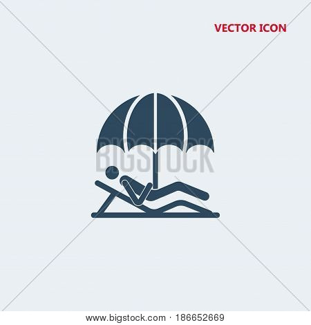 person lying on a beach under an umbrella Icon, person lying on a beach under an umbrella Icon Eps10, person lying on a beach under an umbrella Icon Vector, person lying on a beach under an umbrella Icon Eps