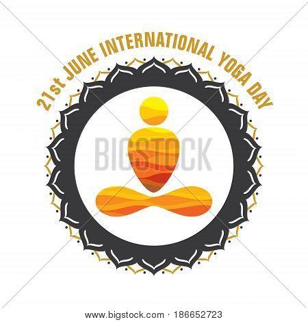 creative yoga pose icon design for international yoga day