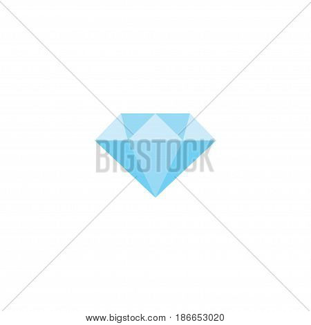 Flat Diamond Element. Vector Illustration Of Flat Jewel Gem Isolated On Clean Background. Can Be Used As Diamond, Jewel And Gem Symbols.