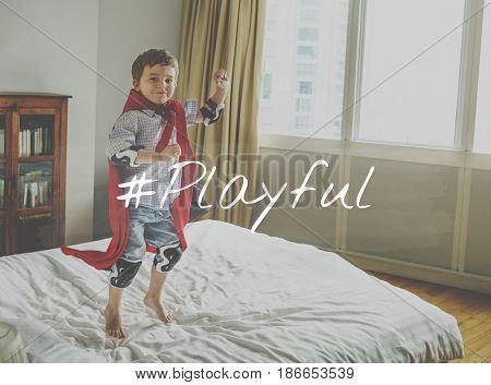Children Kids Young Playful Hashtag Word Graphic