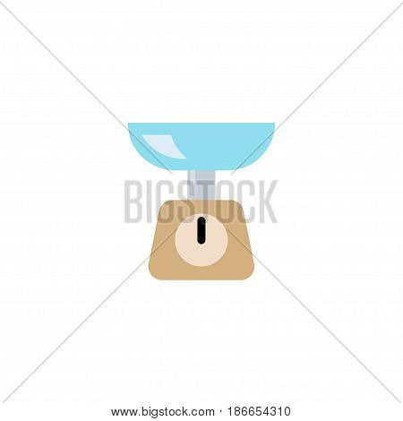 Flat Scales Element. Vector Illustration Of Flat Kitchen Measurement Isolated On Clean Background. Can Be Used As Scales, Measurement And Weight Symbols.