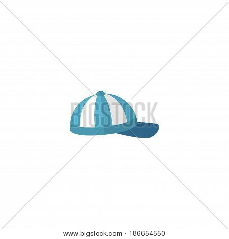 Flat Cap Element. Vector Illustration Of Flat Hat Isolated On Clean Background. Can Be Used As Cap, Beach And Hat Symbols.