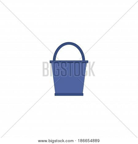 Flat Pail Element. Vector Illustration Of Flat Bucket Isolated On Clean Background. Can Be Used As Pail, Bucketful And Bucket Symbols.