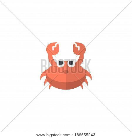 Flat Crab Element. Vector Illustration Of Flat Cancer Isolated On Clean Background. Can Be Used As Crab, Lobster And Cancer Symbols.
